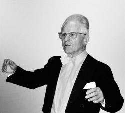 Dr. Hans Rudolf Zöbeley als Leiter des Universitätschors München