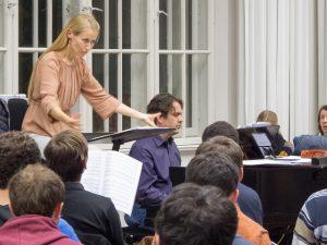 Der Unichor während einer Probe